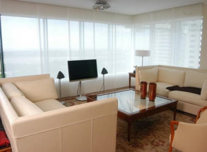 persiana tipo panel japones en apartamento